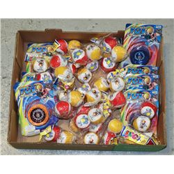 FLAT OF YOYO TYPE TOYS AND MORE TOYS