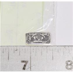 MINI ONE GRAM FINE SILVER .999 BAR