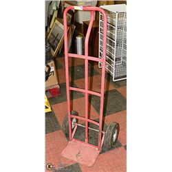 RED MOVING APPLIANCE CART
