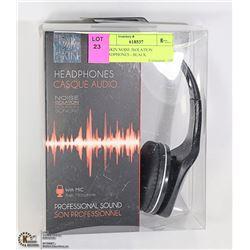 DJ SKIN NOISE ISOLATION HEADPHONES - BLACK