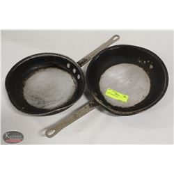 "TWO 9"" FRYING PANS"