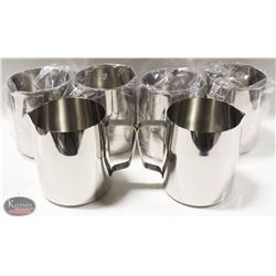 CASE OF 6 NEW JOHNSON ROSE 48 OZ FROTHING PITCHERS