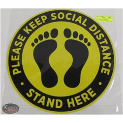 "NEW 16"" CIRCULAR SOCIAL DISTANCING FLOOR DECAL"