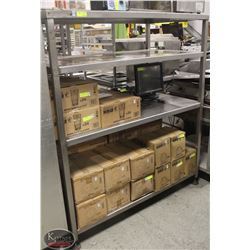 STAINLESS STEEL 4-TIER SHELVING UNIT