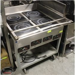 MR. INDUCTION 4-BURNER INDUCTION PLATE CART