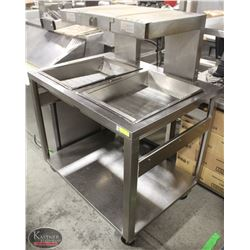 S/S MARSHALL DUAL-WELL FOOD WARMING STATION W/