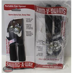 FOCUS PORTABLE BLACK CAN OPENER, SWING-A-WAY