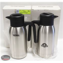 TWO NEW STAINLESS STEEL THERMOS M#TGM10SCDN