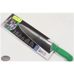 """NEW WINCO 10"""" CHEF'S KNIFE W/ GREEN HANDLE"""