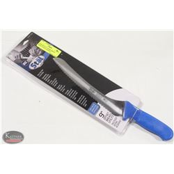 """NEW WINCO 9"""" OFFSET BREAD KNIFE W/ BLUE HANDLE"""
