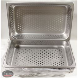 """BOX OF 6 NEW FULL SIZE 4"""" DEEP PERFORATED"""