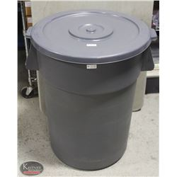 NEW JOHNSON ROSE 44 GALLON COMMERCIAL TRASH CAN W/