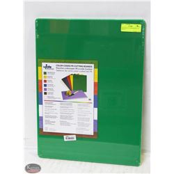 GREEN POLY CUTTING BOARD 12 X 18 X 1/2""