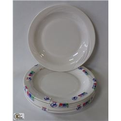 "PACKAGE OF 6 OPAL CYPRESS 9"" IVORY PLATES, MADE IN"