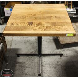 SQUARE SOLID WOOD-TOP COMMERCIAL TABLE
