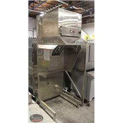 COMMERCIAL STAINLESS STEEL HOOD W/ FIRE
