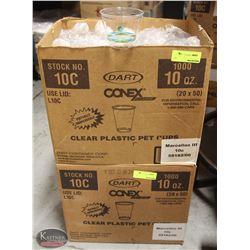 2 CASES OF 1000 DART CONEX  10OZ PLASTIC CUPS