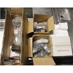 BOX W/ 4 NEW VARIOUS INDOOR LIGHT FIXTURES