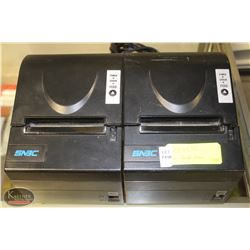 TWO SNBC RECEIPT PRINTERS, W/ ONE CABLE