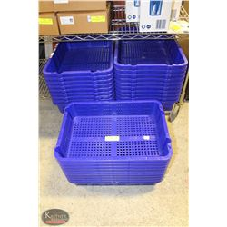 GROUP OF 29 STACKABLE MARKET BASKETS