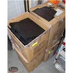 4 LARGE BOXES OF MATTE BLACK GIFTBAGS W/ LOGO
