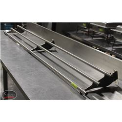 6' STAINLESS STEEL SERVICE TRAY RAIL