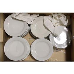 BOX OF MANY PORCELAIN SIDE PLATES