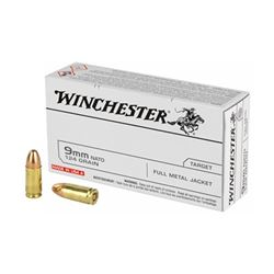 WIN USA 9MM 124GR FMJ - 50 Rds