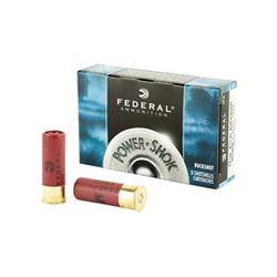 FED PWRSHK 12GA 2.75 MX #4 BCK - 20 Rds