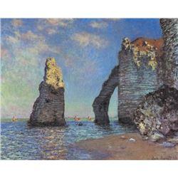Claude Monet - The Rocky Cliffs of �tretat