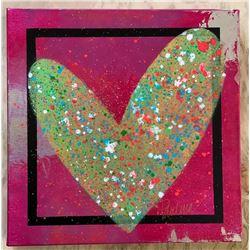 "Paulina Del Mar ""Chrome Pink Heart"""