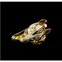 18KT Yellow Gold Zebra Ring