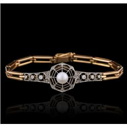 14KT Two-Tone Gold 0.26 ctw Diamond Bracelet