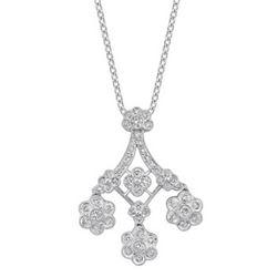 18k White Gold 1.40CTW Diamond Pendant, (SI1 /H-I)