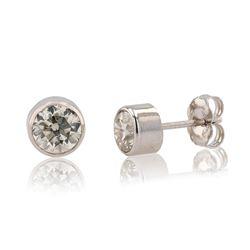 1.06 ctw SI2 Diamond 14K White Gold Earrings