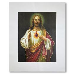 """Steve Kaufman (1960-2010), """"Jesus Peace State One"""" Hand Signed and Numbered Limi"""
