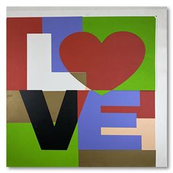 """Steve Kaufman (1960-2010), """"LOVE"""" Hand Signed and Numbered Limited Edition Hand"""