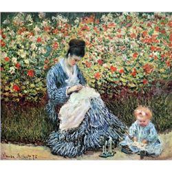 Claude Monet - Madame Monet and Child