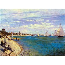 Claude Monet - The Beach at Sainte Adresse