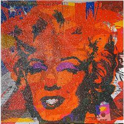 "Jozza ""Marilyn Monroe with Flag - Diamond Dust"""