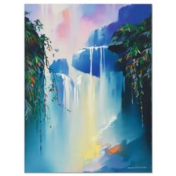 """Thomas Leung, """"Magic Fall"""" Hand Embellished Limited Edition on Canvas, Numbered"""