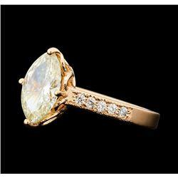 1.83 ctw Diamond Ring - 14KT Rose Gold