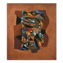 "Neal Doty (1941-2016), ""Desert Maverick"" Original Mixed Media Painting on Galler"