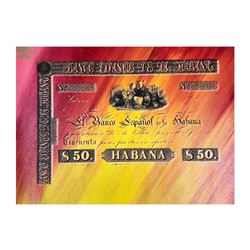 "Steve Kaufman (1960-2010), ""Banco Espanol de la Habana"" Hand Signed and Numbered"