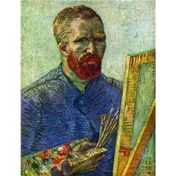 Van Gogh - Self-Portrait In Front Easel