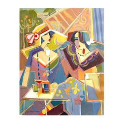 "Isaac Maimon, ""New Scheme of Color"" Original Acrylic Painting, Hand Signed with"