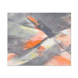 Thomas Leung,  Intersect  Original Oil Painting on Canvas Board, Hand Signed wit