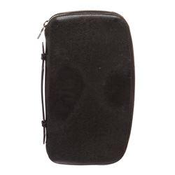 Louis Vuitton Black Taiga Leather Atoll Organizer Wallet Clutch