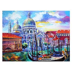 "Yana Rafael, ""Venezia Historic Site"" Hand Signed Original Painting on Canvas wit"