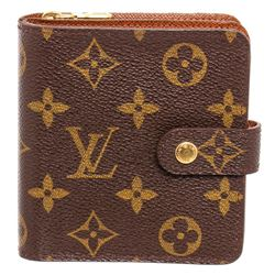 Louis Vuitton Monogram Compact Porte Papier Zippe Wallet